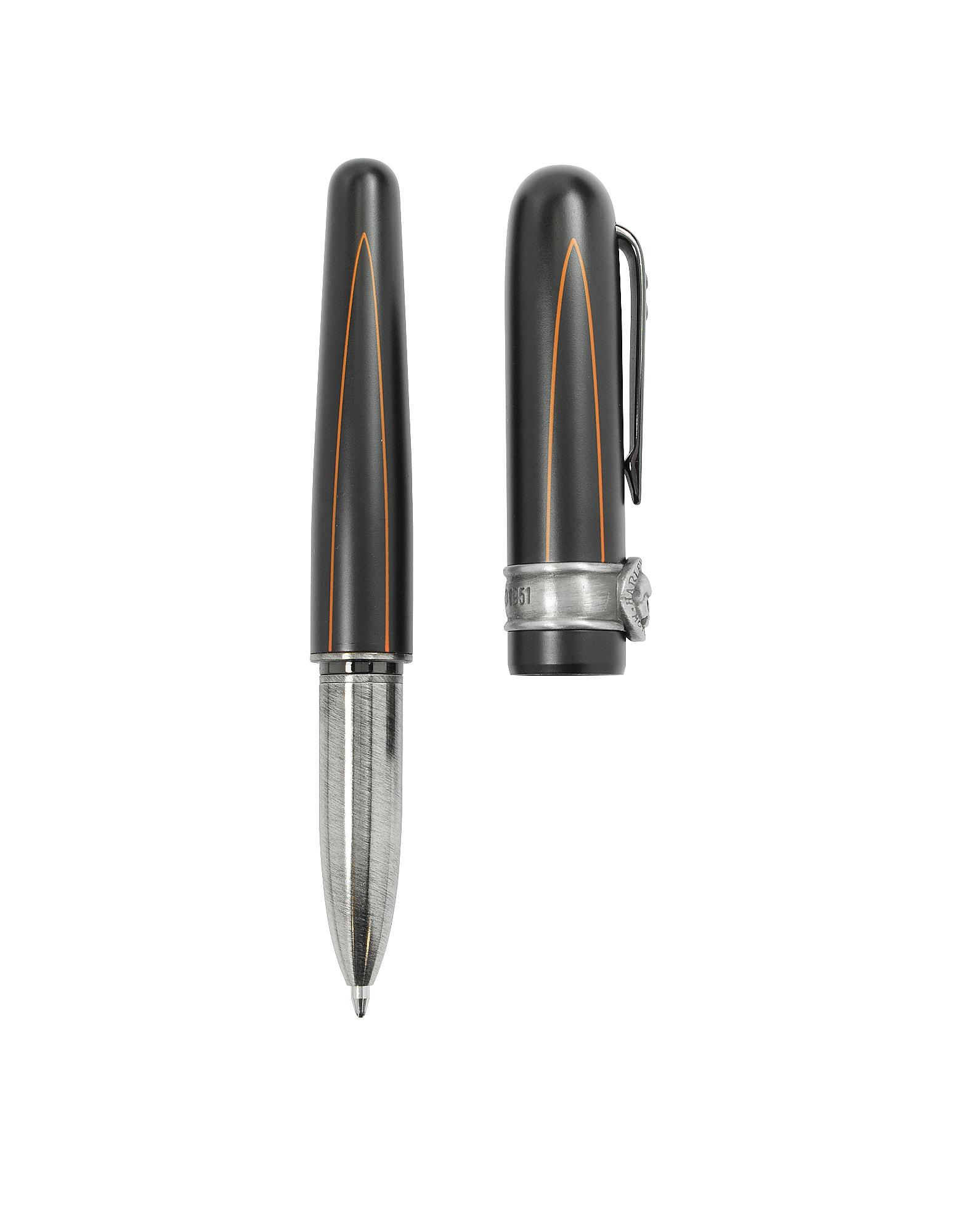 Harley Davidson Writing Instruments, BlackLine Rollerball Pen w/Skull
