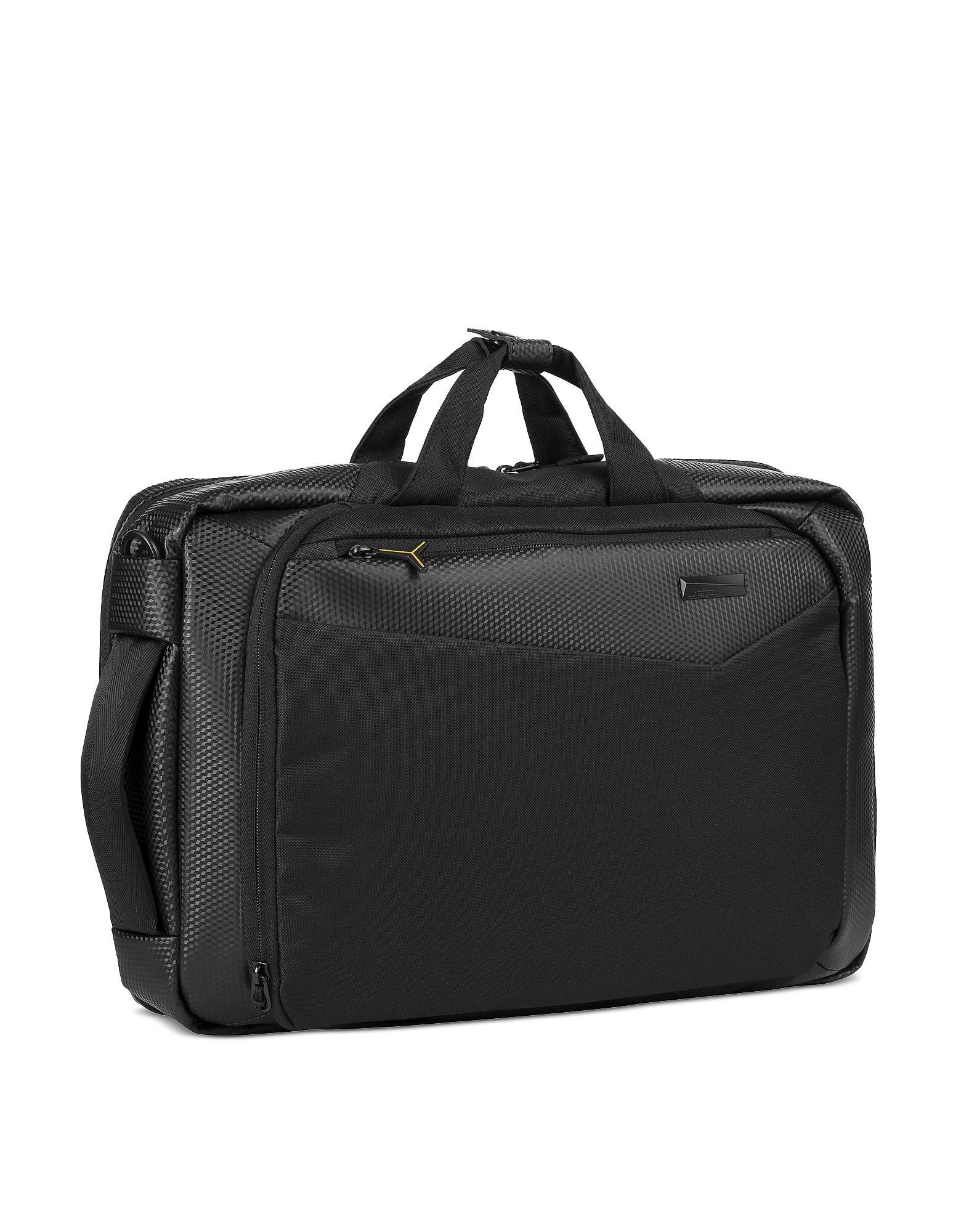 Lamborghini Automobili Designer Men's Bags, Galleria Nylon Men's Backpack W/Handles