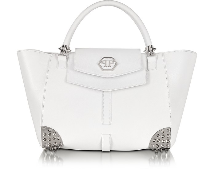 Jenna Large Leather Tote - Philipp Plein
