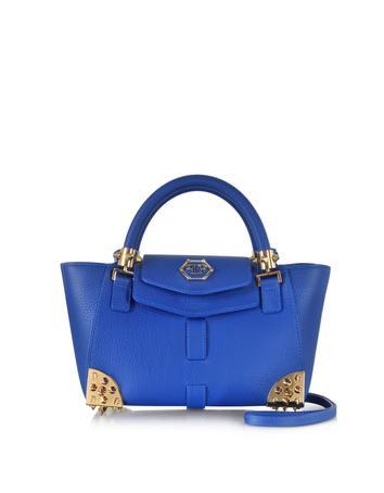 Charlotte Small Blue Jeans Satchel w/Shoulder Strap