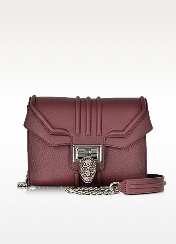 Dark Bordeaux Biker Bag - Philipp Plein