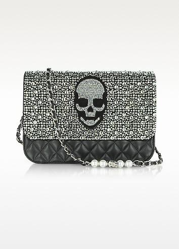 Crystal Skull Quilted Leather Shoulder Bag - Philipp Plein