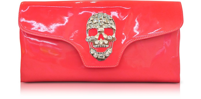 Crazy Skull Leather Clutch - Philipp Plein