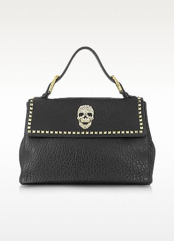 Classic Diamond Skull Leather Satchel - Philipp Plein