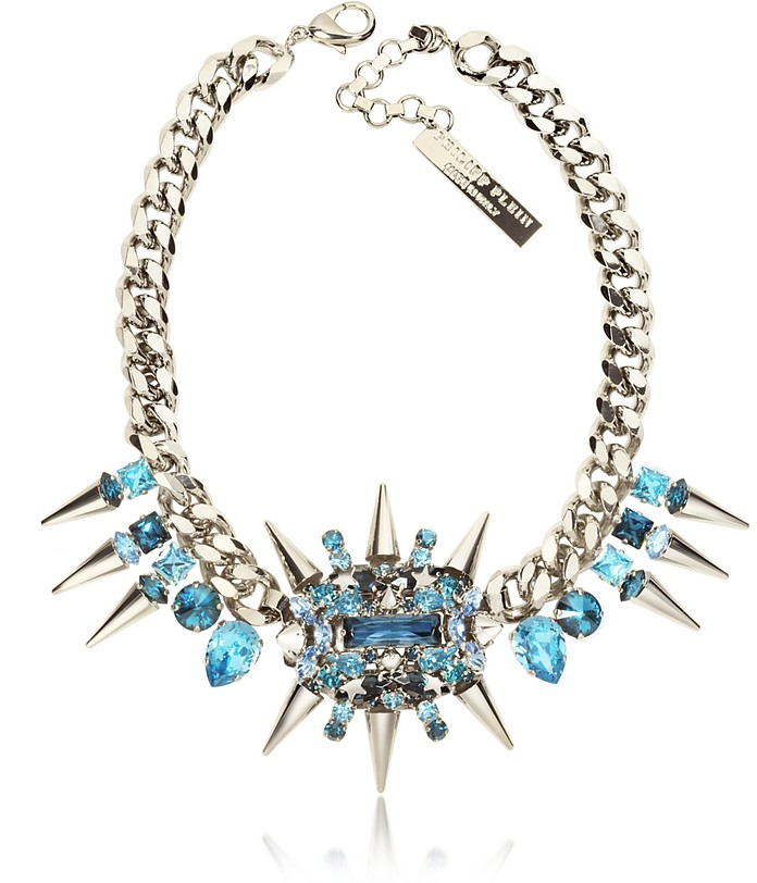 Pink is the New Black Studded Necklace - Philipp Plein