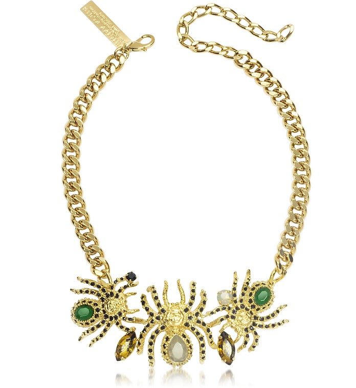 Cobweb Golden Necklace - Philipp Plein