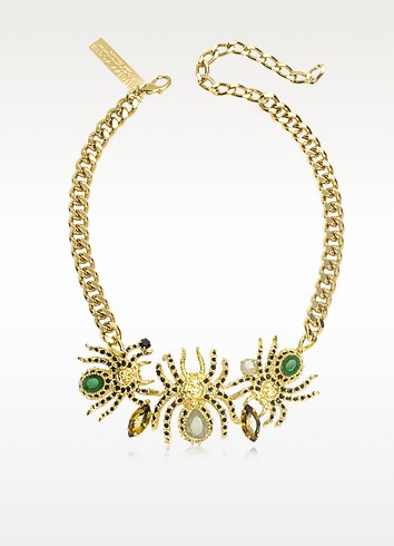 Cobweb Golden Necklace - Philipp Plein