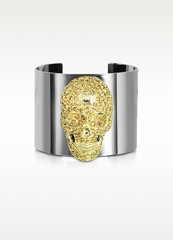 Crystal Skull Cuff Bracelet - Philipp Plein