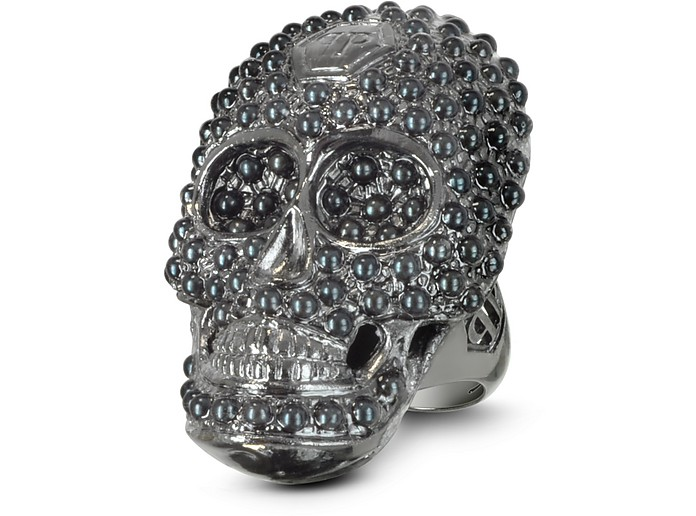 Skull Light Black Women's Ring - Philipp Plein