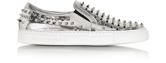 Punk Laminated Leather Sneaker - Philipp Plein
