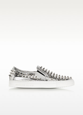 Punk Laminated Leather Sneaker - Philipp Plein
