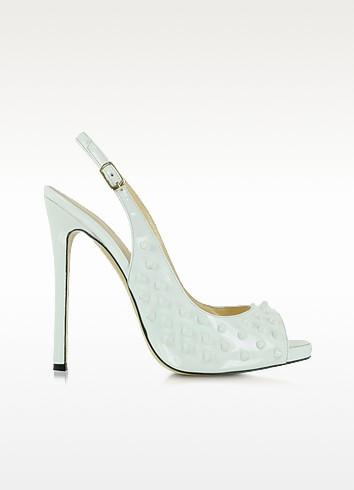 Shine Bright White Peeptoe Platform Sandal - Philipp Plein
