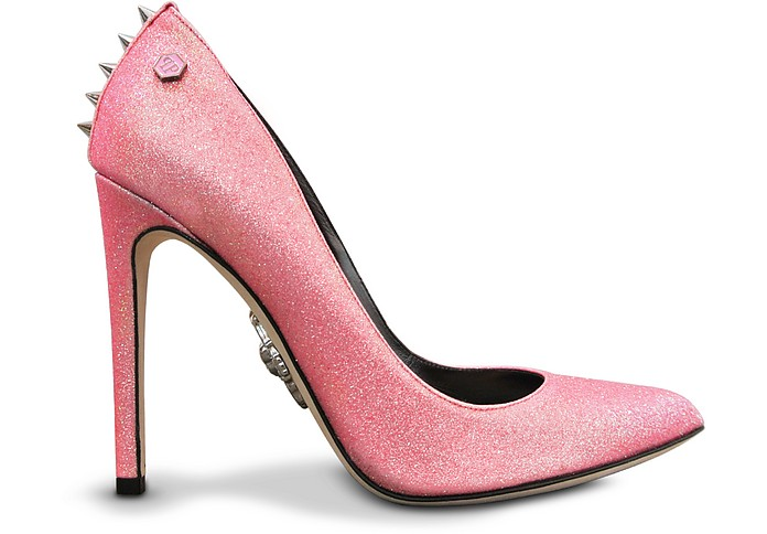 Glimmer Pink Leather Pump - Philipp Plein