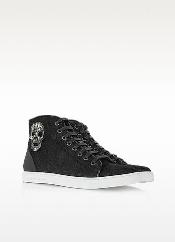 Black Lace Bomb Sneaker - Philipp Plein