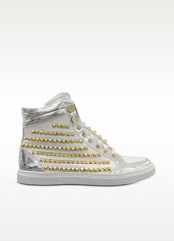 Pyramid Studded Leather Sneaker - Philipp Plein