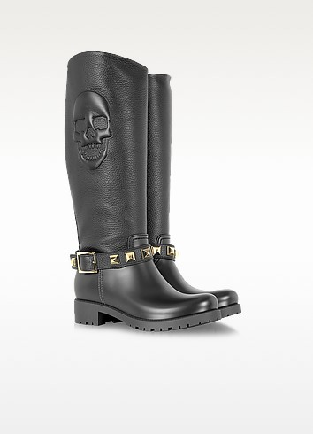 Embossed Biker Boot - Philipp Plein