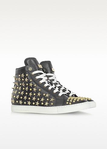 Black Stud Celebration Sneaker - Philipp Plein