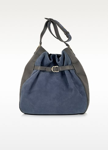 Augusta Graphite and Blue Shoulder Bag - See by Chloé