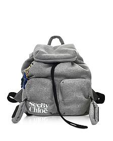 Joy Rider Gray Viscose Backpack - See by Chloé