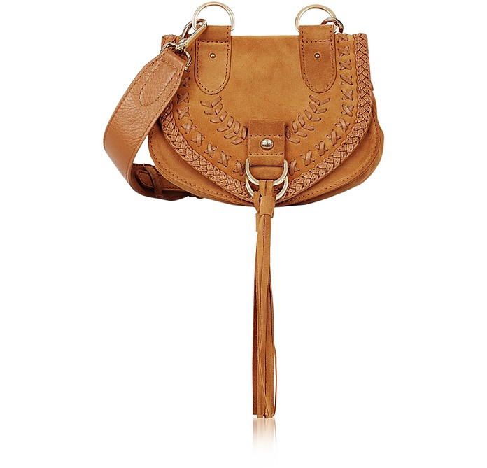 Collins Passito Braided Leather & Suede Crossbody Bag w/Tassels - See by Chloé