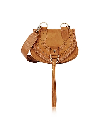 See by Chlo - Collins Passito Braided Leather & Suede Crossbody Bag w/Tassels