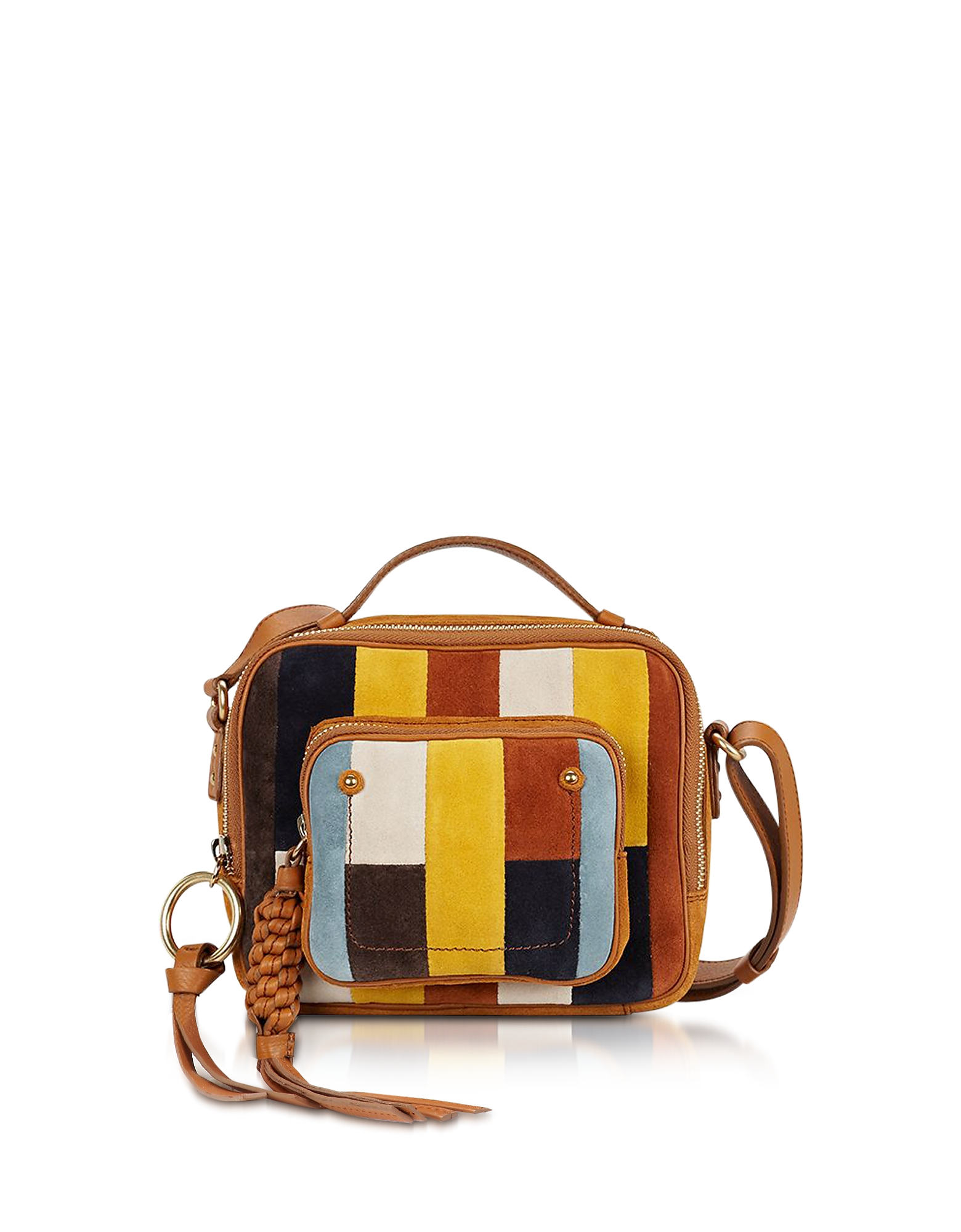 Фото Сумка Через Плечо из Patti Passito и Разноцветной Замши. Купить с доставкой