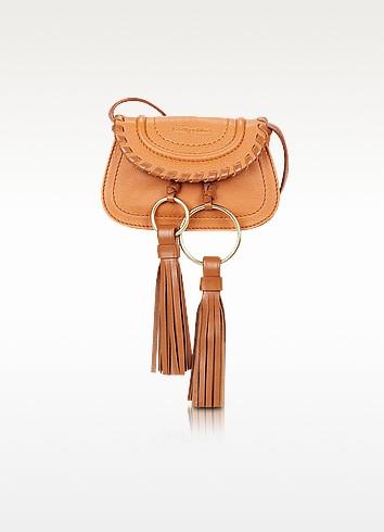 Polly Hazel Leather Mini Crossbody Bag w/Tassels - See by Chloé