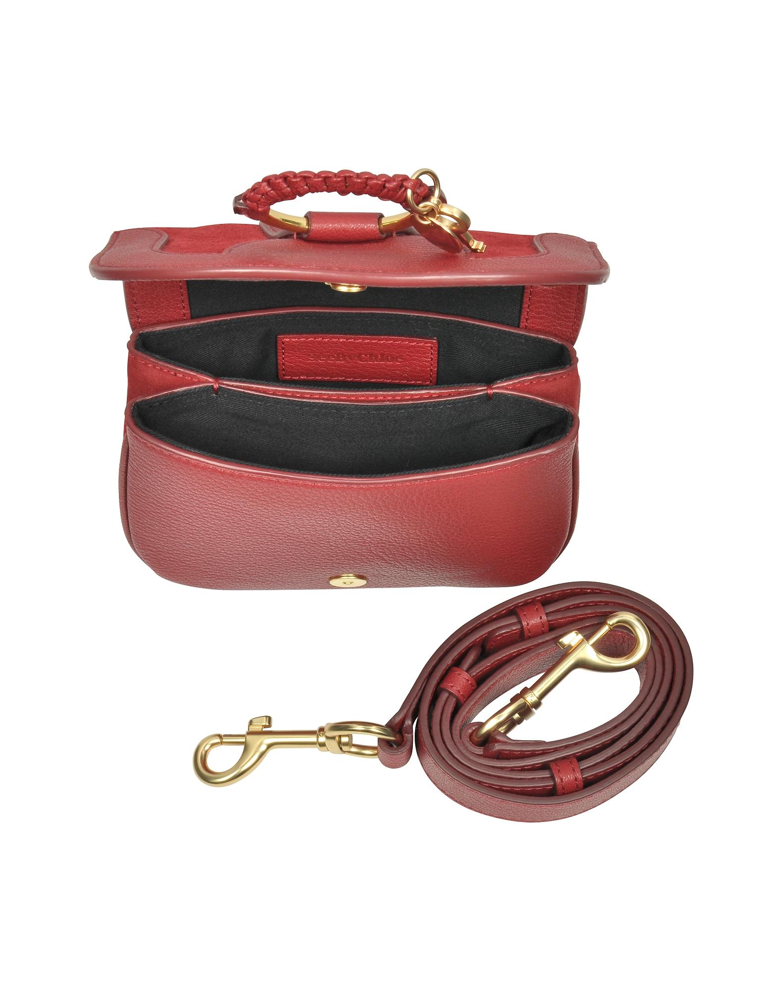 Hana Red Velvet Leather & Suede Small Crossbody Bag от Forzieri.com INT