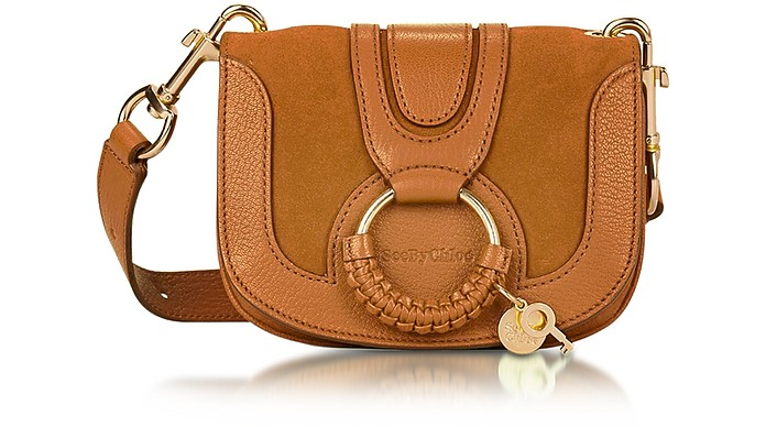 Hana Passito Leather & Suede Small Crossbody Bag - See by Chloé