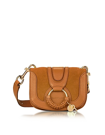 See by Chlo - Hana Passito Leather & Suede Small Crossbody Bag
