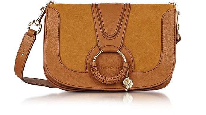 Hana Passito Leather & Suede Shoulder Bag - See by Chloé