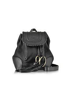 Polly Black Leather Backpack w/Tassels - See by Chloé