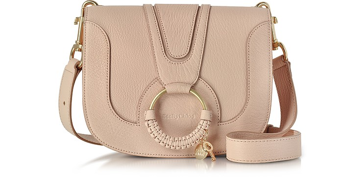 Hana Powder Pink Leather Crossbody Bag - See by Chloé
