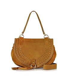 Collins Passito Suede Shoulder Bag w/Tassels - See by Chloé