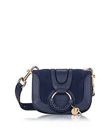Hana Ultramarine Leather & Suede Small Crossbody Bag - See by Chloé