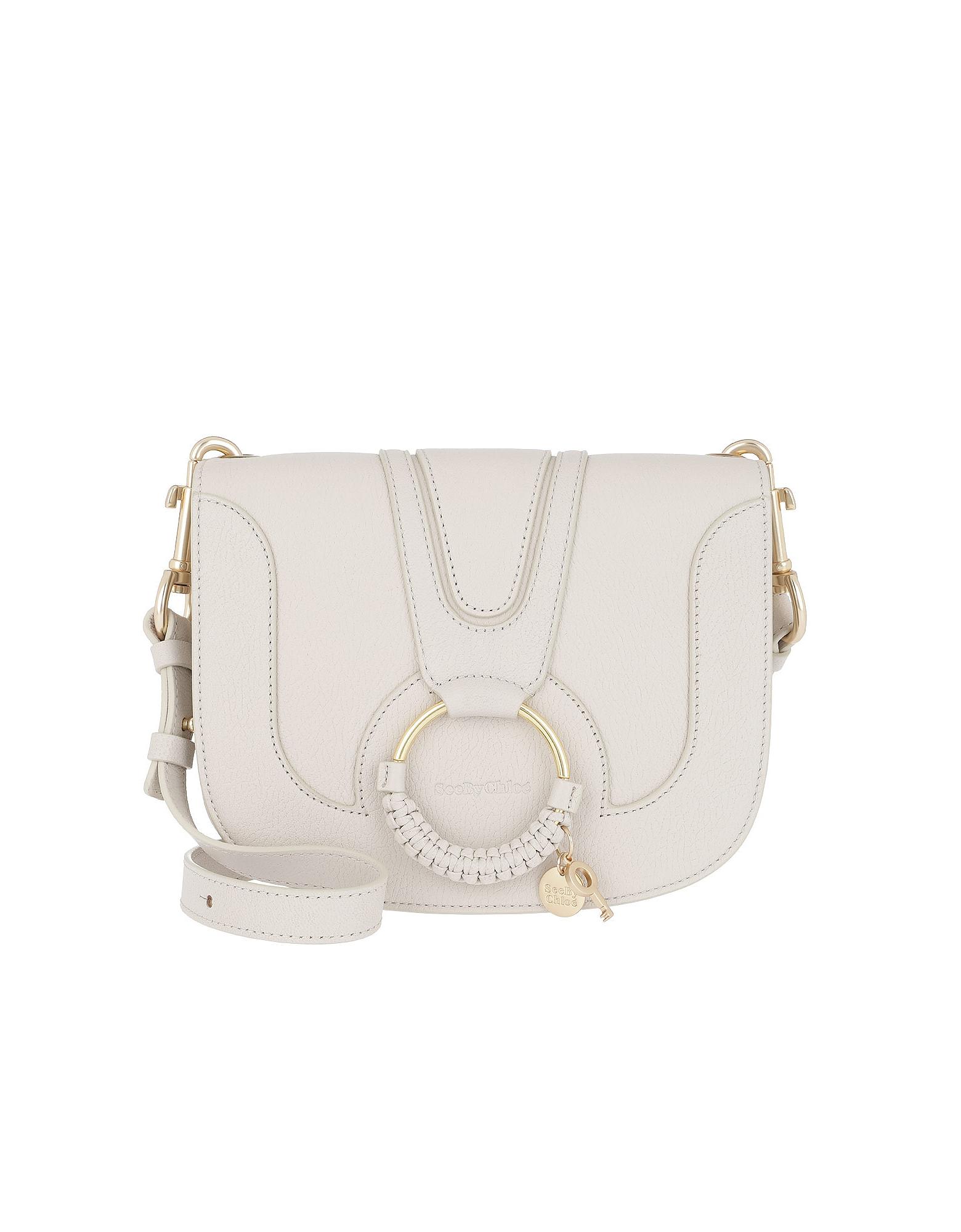 See by Chloé Handbags, Hana Medium Shoulder Bag Cement Beige