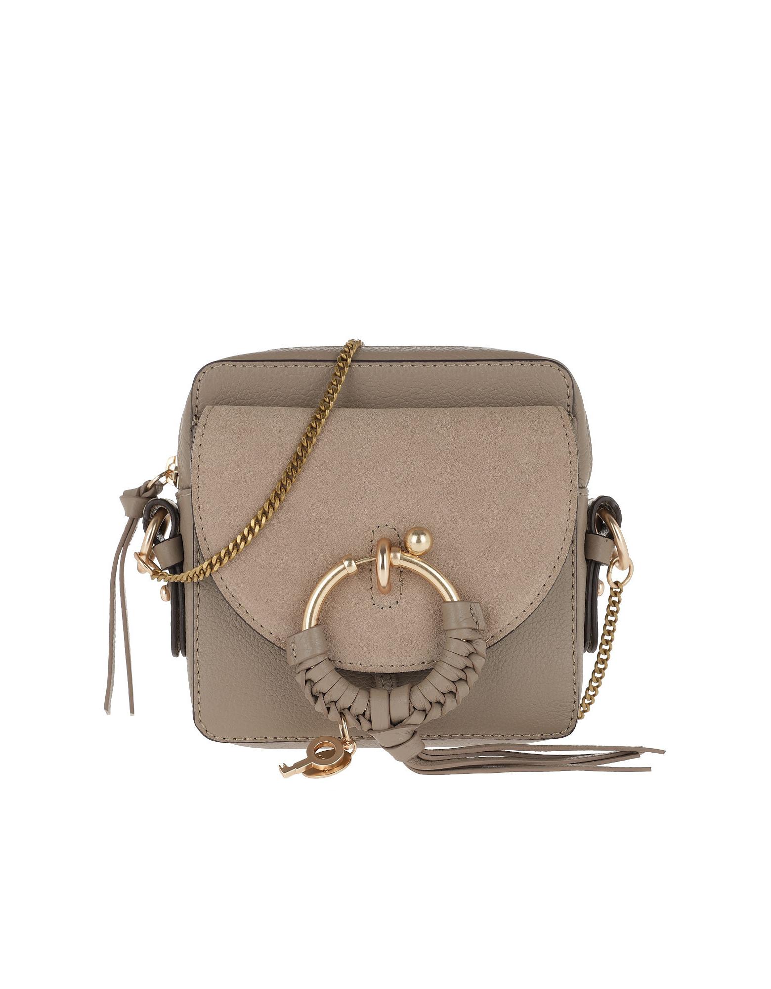 See by Chloé Designer Handbags, Grey Joan Camera Bag