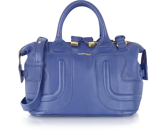 Kay Ultra Marine Grained Leather Satchel - See by Chloé