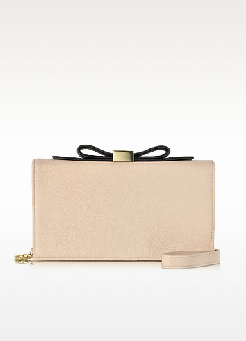 Nora Nude Leather Smart Clutch - See by Chloé