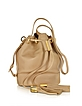 Vicki Capuccino Leather Small Bucket Bag w/Tassels - See by Chloé