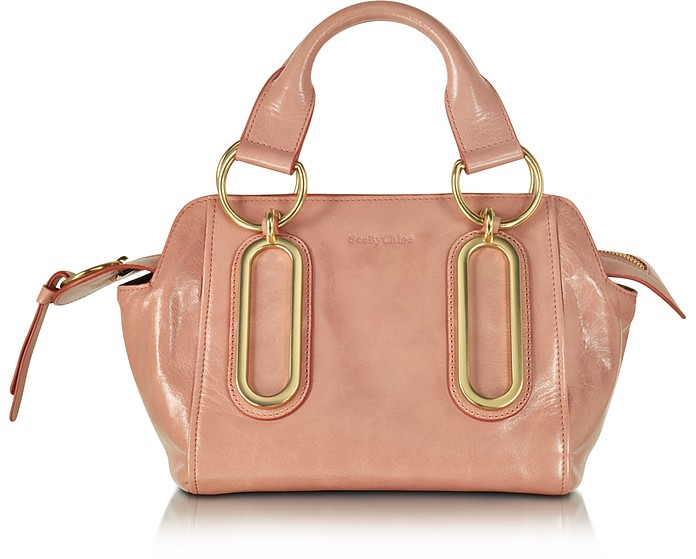 Paige Small Glazed Leather Handbag - See by Chloé