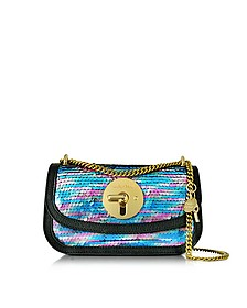 Lois Shadow Blue Sequins and Leather Mini Shoulder Bag - See by Chloé