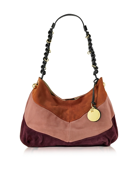 Foto See by Chloé Madie Borsa a Spalla in Suede Color Block Borse donna
