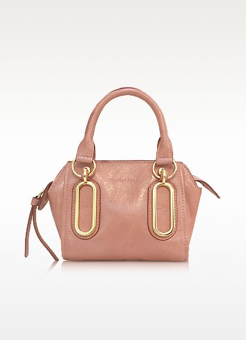 Paige Glazed Leather Mini Crossbody Bag - See by Chloé