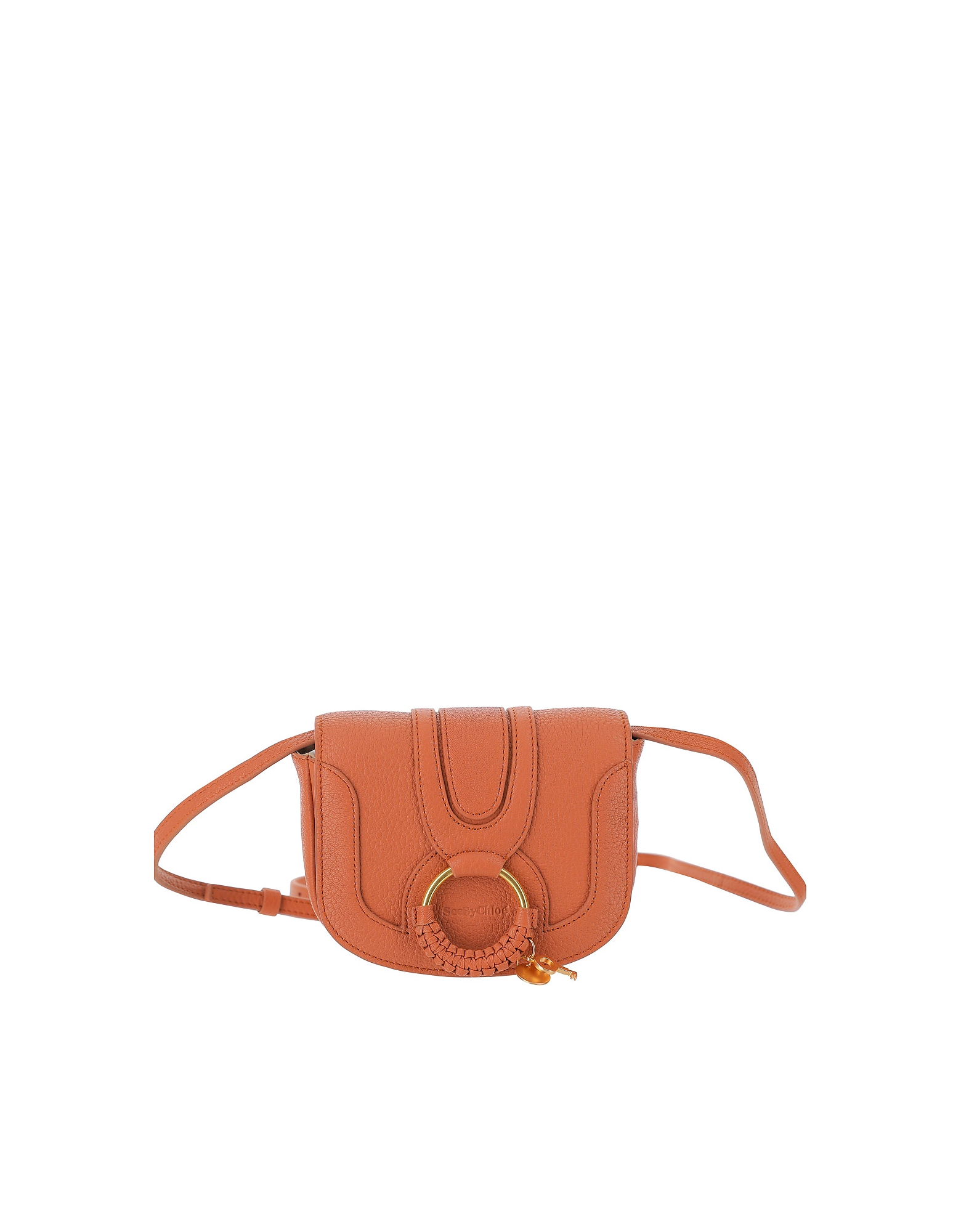 See by Chloé Designer Handbags, Rust Leather Hana Shoulder Bag