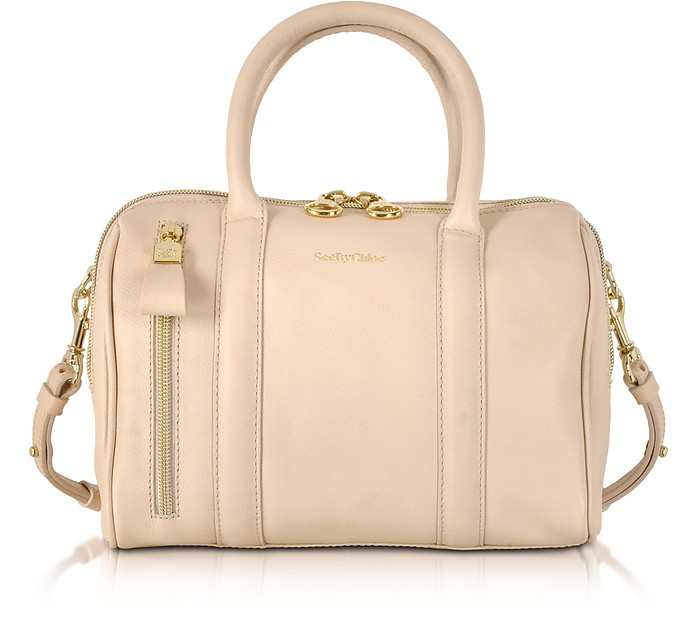 Harriet Small Leather Satchel Bag w/Shoulder Strap - See by Chloé