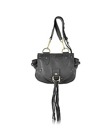 Collins Black Leather Crossbody Bag w/Tassels - See by Chloé