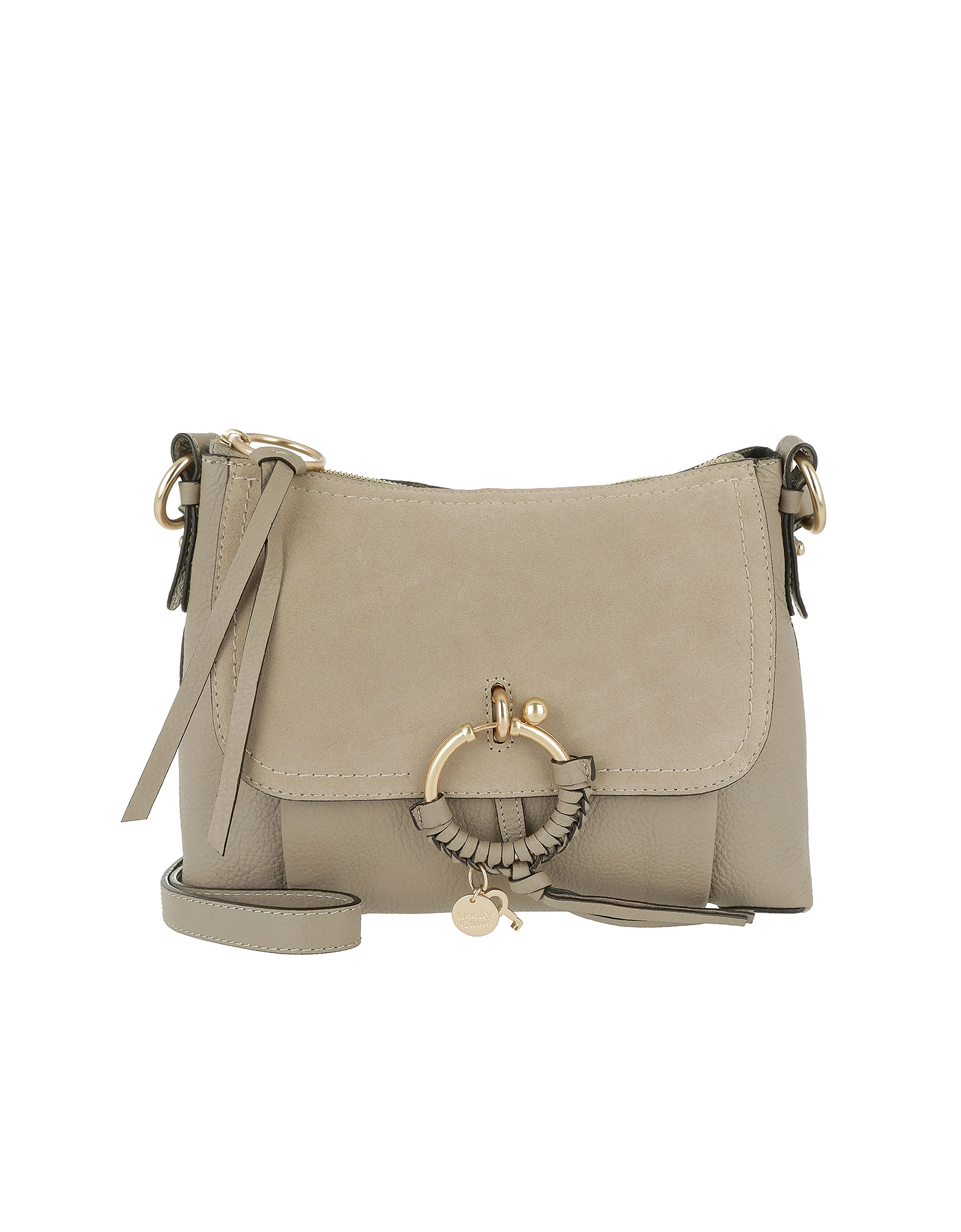 See by Chloé Handbags, Joan Grained Shoulder Bag Leather Motty Grey