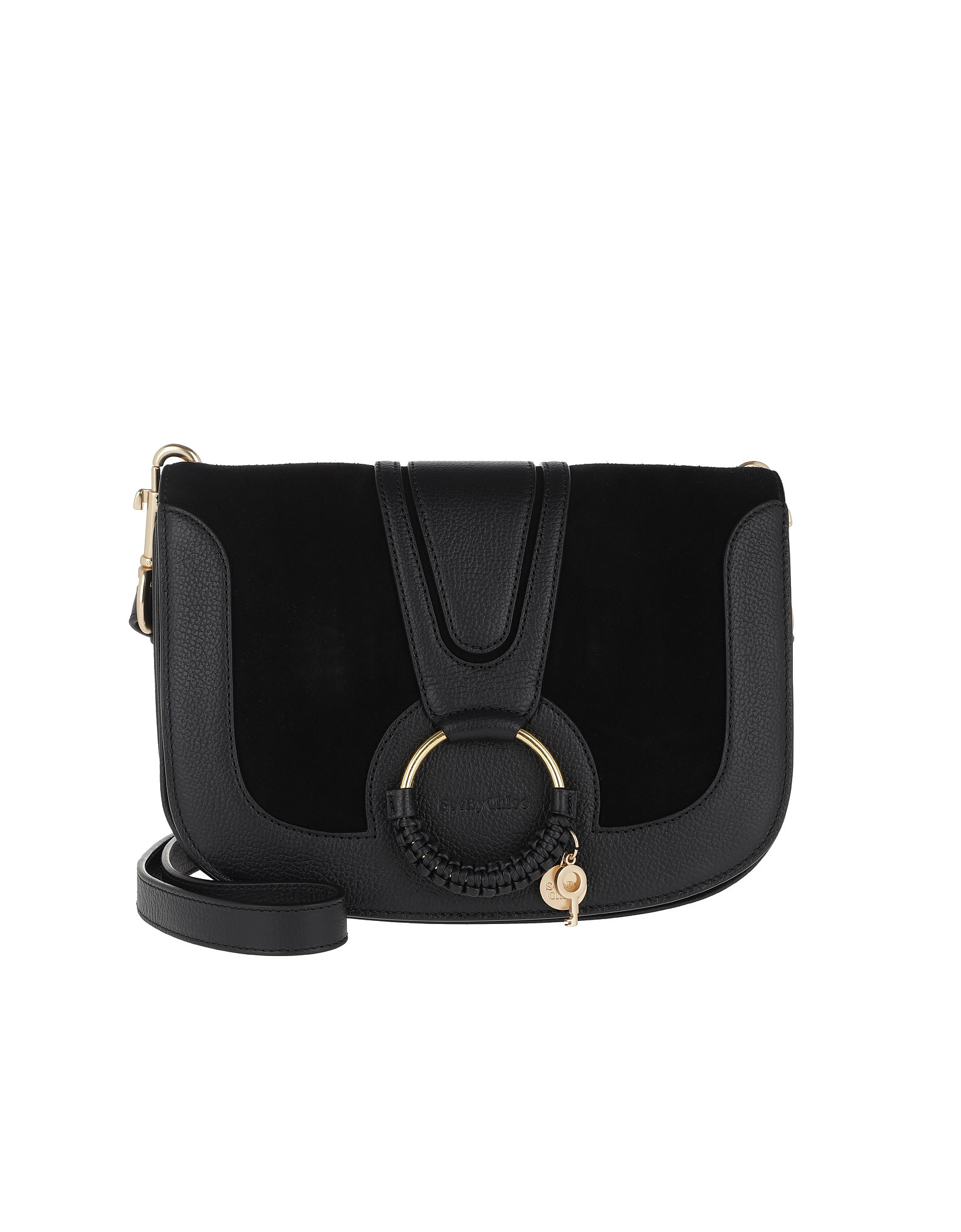 Hana Crossbody Bag Leather Black