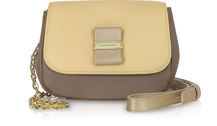 Color Block Leather Mini Chain Purse - See by Chloé